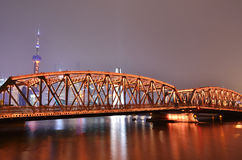 Nacht Shanghai Stockbilder