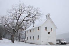 Die Walnuss-Grove-Kirche am Weihnachten, Boxley, Arkansas Lizenzfreie Stockbilder
