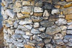 Die Wand der Sandsteinbeschaffenheit Stockbild
