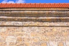 Die Wand der Sandsteinbeschaffenheit Lizenzfreie Stockfotografie