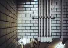 Die Wand der U-Bahnlinie Lizenzfreie Stockfotos