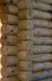 Die Wand des Holzhauses Lizenzfreie Stockbilder