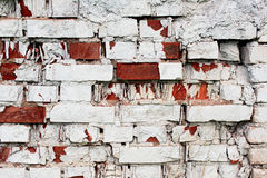 Die Wand des roten Backsteins Lizenzfreies Stockbild