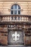 Die Wand eines historischen Gebäudes in Lemberg Lizenzfreies Stockfoto