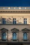 Die Wand eines historischen Gebäudes in Lemberg Lizenzfreie Stockbilder