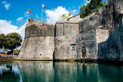 Die Wand in Kotor, Monenegro Lizenzfreies Stockfoto