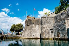 Die Wand in Kotor, Montenegro Stockbild