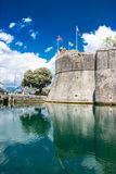 Die Wand in Kotor, Montenegro Stockfotografie