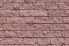 Die Wand und die Ziegelsteine sind rot oder braun Lizenzfreies Stockfoto