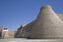 Die Wand in Uzbekistan Stockfoto