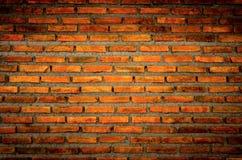 Die Wand vom Ziegelstein und vom Ziegelsteinhintergrund, roter Backstein und Muster des Backsteinmauerhintergrundes Stockfoto