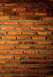 Die Wand vom Ziegelstein und vom Ziegelsteinhintergrund, roter Backstein und Muster des Backsteinmauerhintergrundes Lizenzfreies Stockbild
