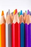 Die Wand von Bleistiften Lizenzfreie Stockbilder