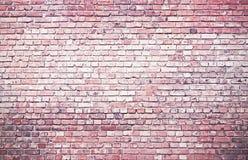 Die Wand wird von den Ziegelsteinen hergestellt Die Beschaffenheit der Wand Stockbild