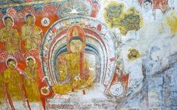 Die Wandgemälde in der Höhle von Dambulla Lizenzfreies Stockbild