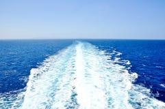 Die Wasser Spur im Mittelmeer. lizenzfreie stockfotografie