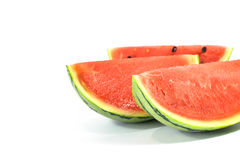 die Wassermelone lokalisiert auf weißem Hintergrund Lizenzfreie Stockfotos