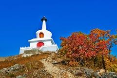 Die weiße Pagode _autumn Landschaft Lizenzfreies Stockfoto