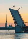 Die weißen Nächte in St Petersburg, Russland Lizenzfreie Stockfotos