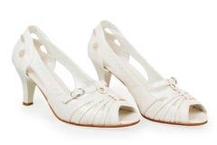 Die weißen Schuhe der Frauen Stockfotografie