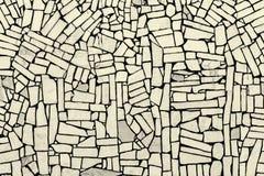 Die weißen starken Fliesen, die in Position zementiert werden, schaffen eine auffallende abstrakte Beschaffenheit wie Lizenzfreies Stockbild