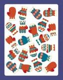 Die Weihnachtsübung - Illustrations- und Arbeitsseite für die Kinder Stockbilder