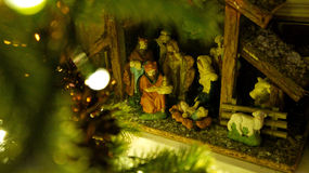 Die Weihnachtsgeburt christi Lizenzfreies Stockfoto