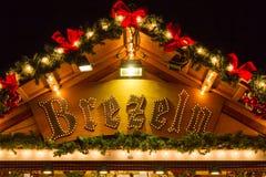 Die Weihnachtshütte in Dusseldorf Stockfotos