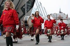 Die Weihnachtsmann-Parade 2008 Lizenzfreies Stockfoto