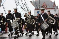 Die Weihnachtsmann-Parade 2008 Stockfotos