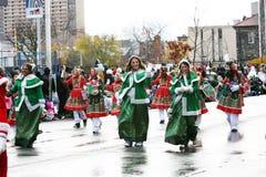Die Weihnachtsmann-Parade 2008 Lizenzfreies Stockbild