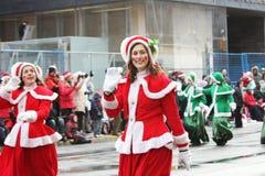 Die Weihnachtsmann-Parade 2008 Stockbilder