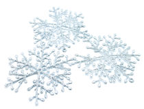 Die Weihnachtsschneeflocken lizenzfreies stockbild
