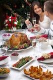 Die Weihnachtstürkei-Abendessen Lizenzfreie Stockbilder