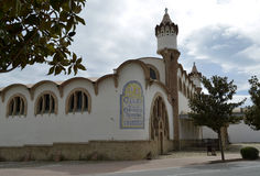 Die Weinkathedrale von Gandesa Stockbilder