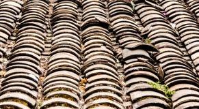 Die Weinlese der Dachspitzenbeschaffenheit Stockfoto