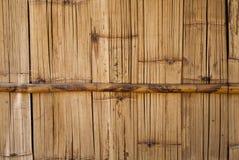Die Weinlesewand bilden vom Bambus Stockfoto