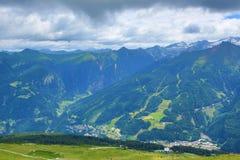 Die Weise von Stubnerkogel, schlechtes Gastein, funikulär, Österreich Stockbild