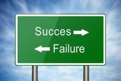 Die Weise zum Erfolg oder zum Ausfall lizenzfreies stockfoto