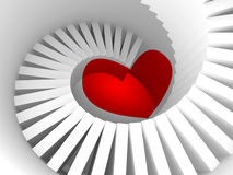 Die Weise zum Herzen, Metapher der Illustration 3d Lizenzfreies Stockbild