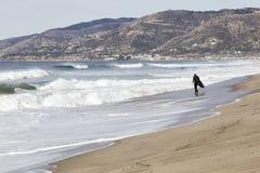 Die Wellen in der Küstenlinie Stockbild