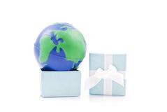 Die Welt als Geschenk lizenzfreie stockfotografie