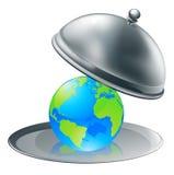Die Welt auf einer Platte Stockfotos