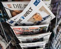 Die Welt avec le Président français nouvellement élu Emmanuel Macron Photo stock