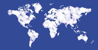 Die Welt in den Wolken Stockbild