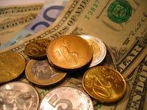 Die Welt des Geldes Stockbild