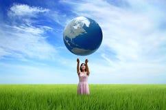 Die Welt in Ihren Händen Stockfotos