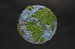Die Welt im Sand Stockfotos