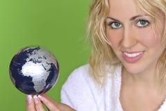 Die Welt im Schwerpunkt Lizenzfreies Stockfoto