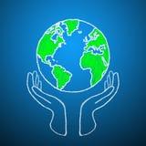 Die Welt ist in Ihren Händen. Stockbild
